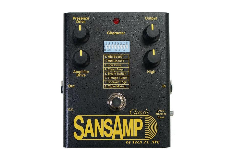 Tech 21 представила обновленную аналоговую гитарную педаль SansAmp Classic на схемах 1989 года