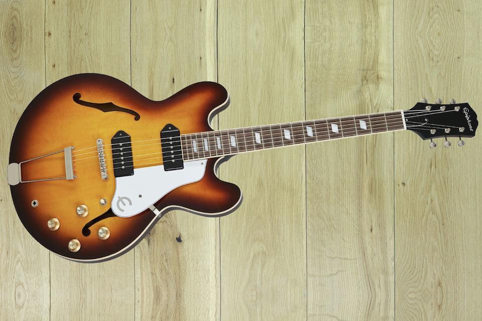 Полуакустика Epiphone Casino USA Collection: звукосниматели Gibson P-90, улучшенная проводка и американское производство