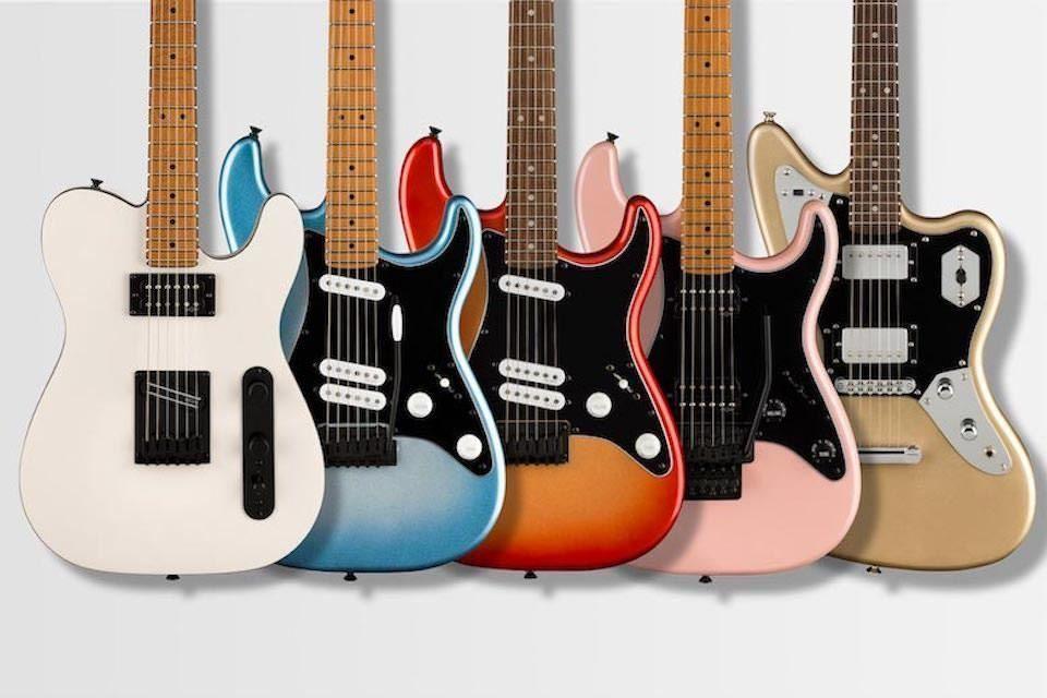 В серии электрогитар Fender Squier Contemporary появилось пять новых моделей с продвинутыми датчиками SQR