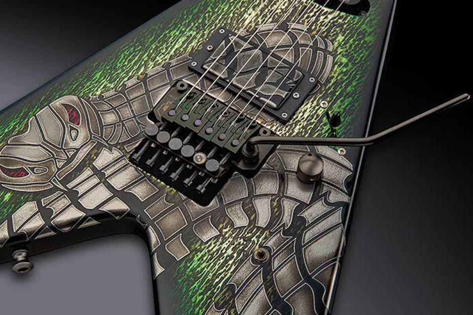 Framus WH-1 Special Bionic Snake: премиальная подписная гитара Вольфа Хоффманна из Accept в змеином дизайне