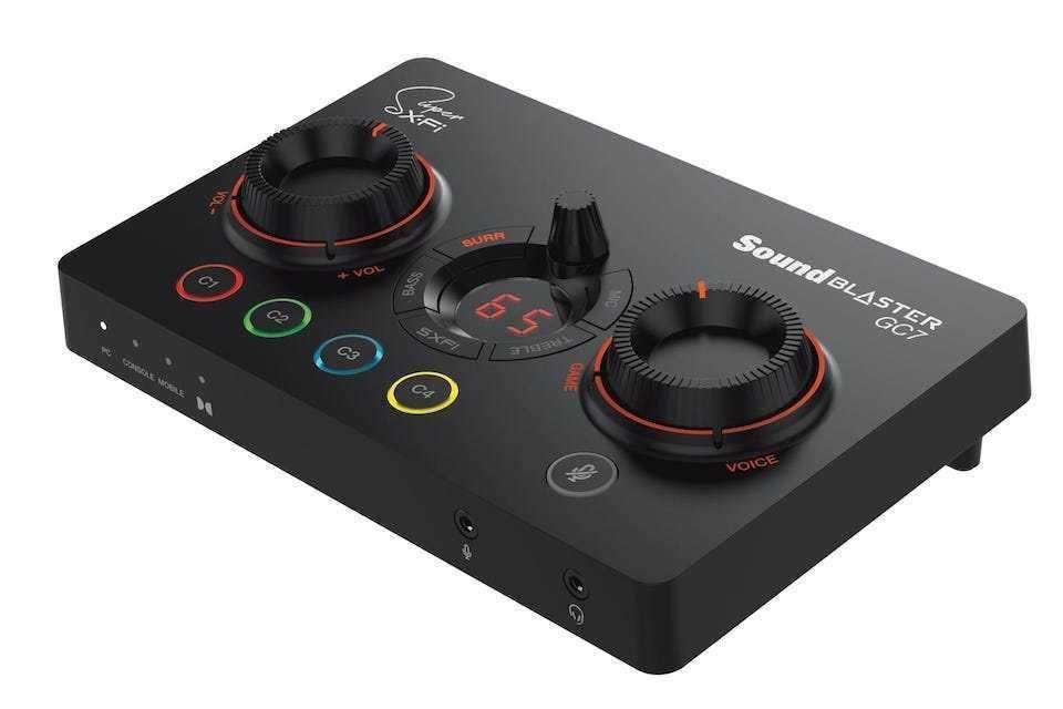 Внешняя геймерская аудиокарта Creative Sound Blaster GC7: технология Super X-Fi и четыре программируемые кнопки