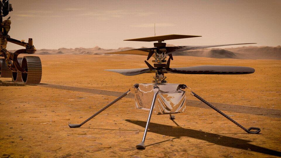В NASA записали звук полета дрона Ingenuity над Марсом