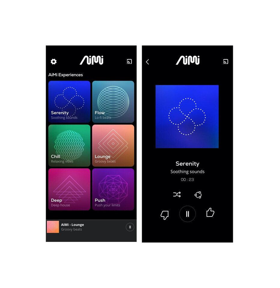 Музыкальное приложение AI AiMi: шесть бесплатных эмбиентных тем с задаваемым темпоритмом