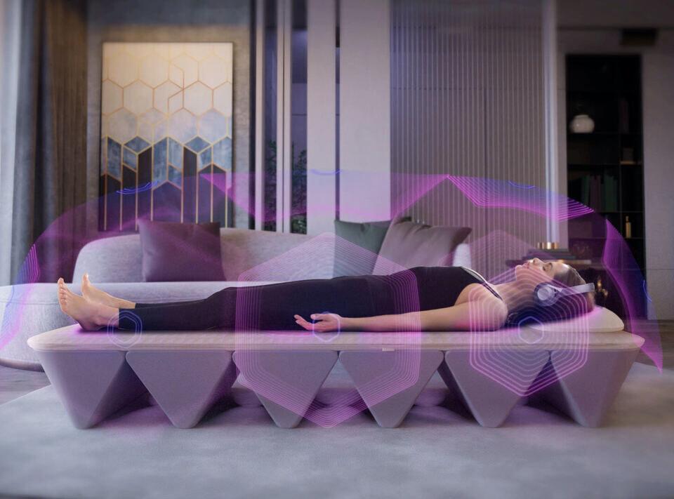Медитативная аудиокровать SoundBed: «тренажер для вашей души»