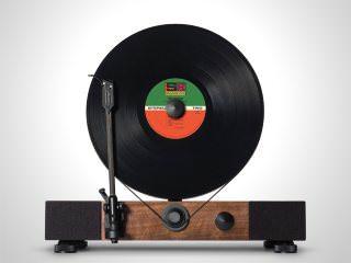 Вертикальный LP-проигрыватель Floating Record Vertical Turntable со встроенными динамиками