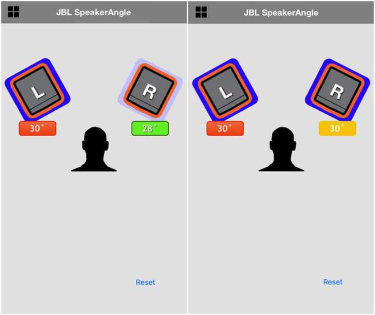 Бесплатное iOS-приложение JBL SpeakerAngle поможет расставить колонки под одинаковым углом