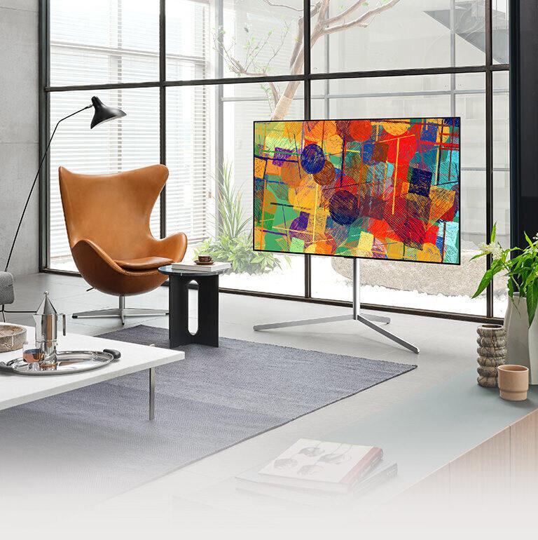 Телевизионная подставка LG Gallery Stand: кабельный канал и ИК-повторитель в лаконичном дизайне