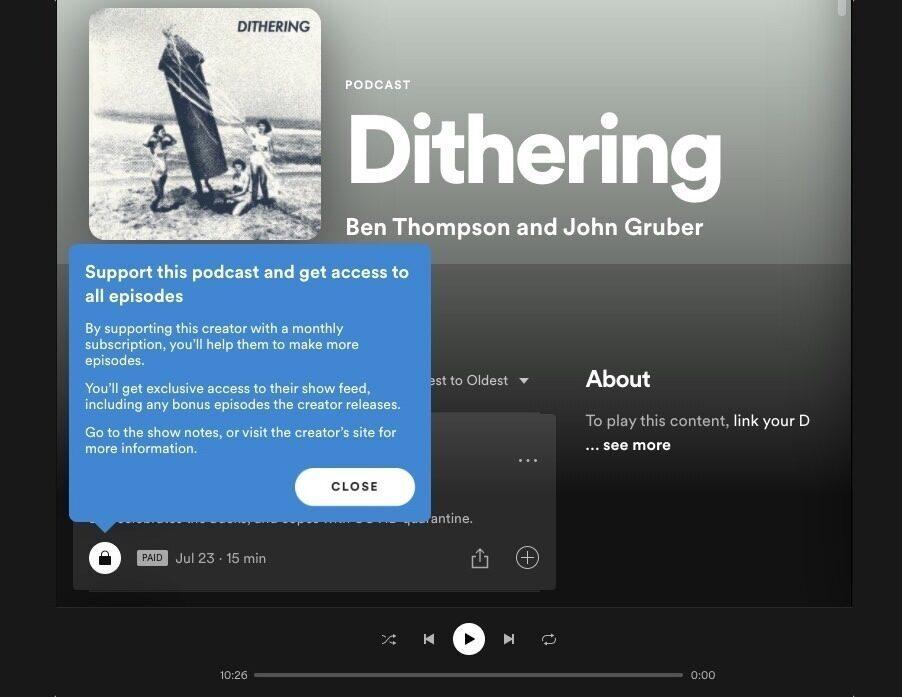 В приложении Spotify появится доступ к сторонним RSS и платным шоу