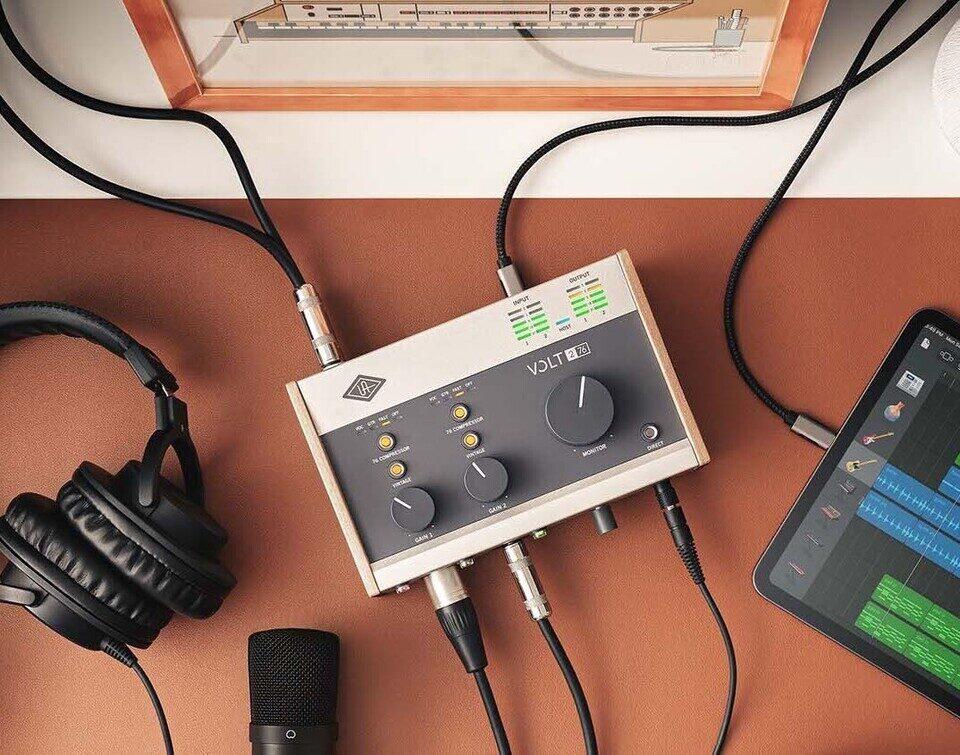 Серия USB-аудиоинтерфейсов Universal Audio Volt: режим Vintage Preamp с ламповой эмуляцией и аналоговый компрессор