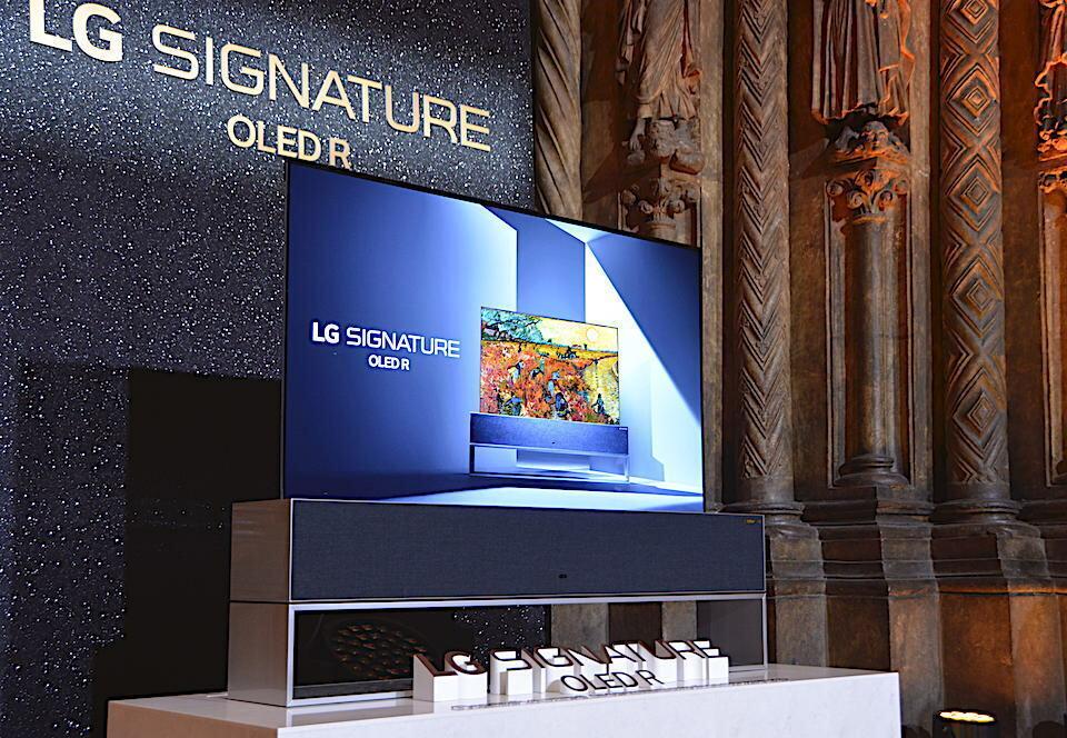Сворачивающийся телевизор LG OLED R впервые представили публично