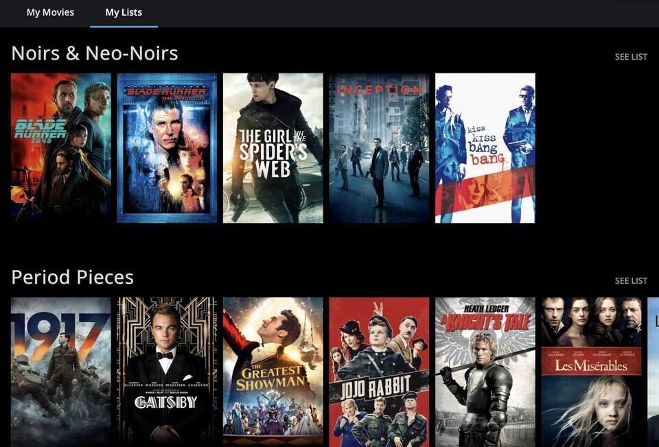 Видеосервис Movies Anywhere добавил созданные ИИ тематические подборки My Lists