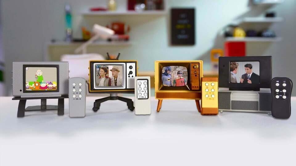 Ретро-модели телевизоров Basic Fun! Tiny TV Classics: маленькие, но почти настоящие