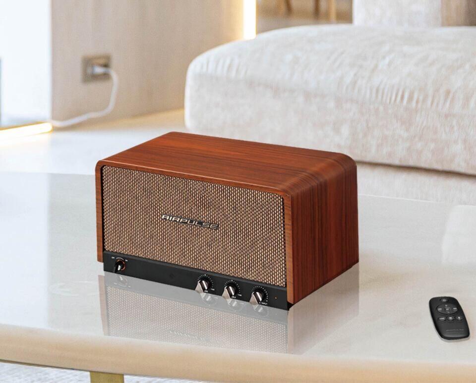 Bluetooth-акустика AirPulse P100x: фирменные твитеры Air Blade, поддержка aptX HD и корпус из дерева