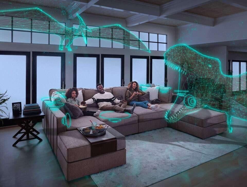 В диван LoveSac Sound + Charge встроили звуковую кинотеатральную систему Harman Kardon