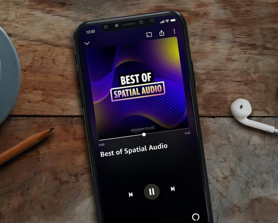Сервис Amazon Music научился проигрывать пространственное аудио с любыми наушниками