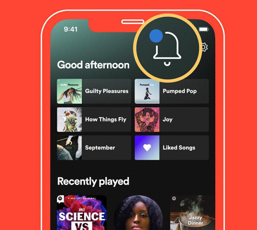 Spotify оповестит о новинках в уведомлениях «What's New»