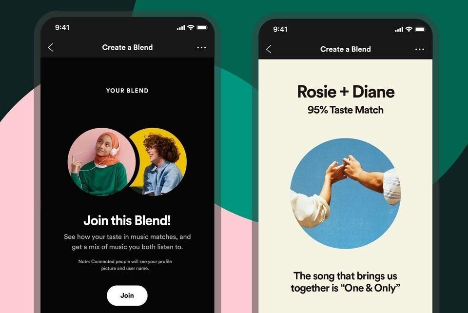 Плейлисты Spotify Blend позволят друзьям смешивать их музыкальные предпочтения