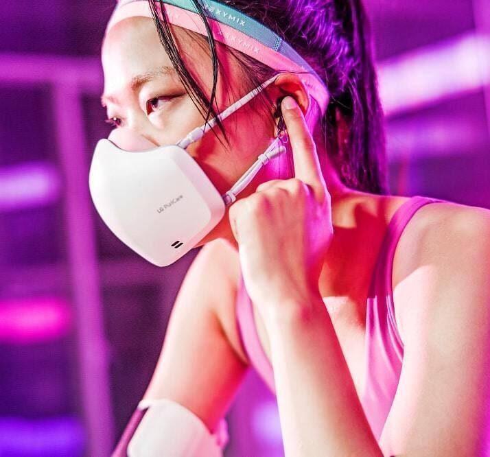 Маска LG PuriCare Wearable Air Purifier получила динамик и микрофон